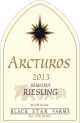 2013 Arcturos Riesling white wine label
