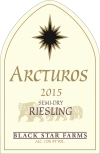 2015 Arcturos Riesling white wine label