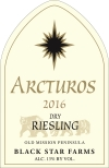 2016 Arctus Dry Riesling white wine label