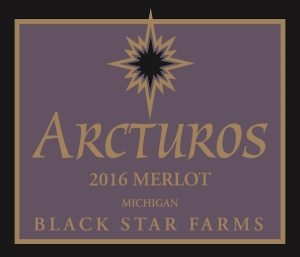 Arcturos Merlot red wine label LARGE
