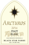 2016 Arcturos Pinot Blanc white wine label