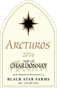 2016 Arcturos Sur Lie Chardonnay white wine label