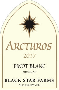 2016 Arcturos Pinot Blanc white wine label LARGE