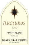 2016 Arcturos Pinot Blanc white wine label THUMBNAIL