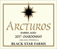 2017 Arcturos Barrel Aged Chardonay white wine label LARGE