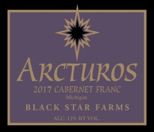 Arcturos Cabernet Franc red wine label LARGE