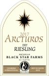 2017 Arctus Dry Riesling white wine label THUMBNAIL