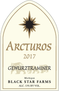 2017 Arcturos Gewurztraminer white wine label LARGE
