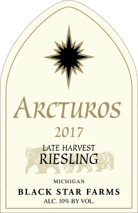 2017 Arcturos Late Harvest Riesling white wine label_LARGE