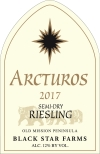2017 Arcturos Riesling white wine label_THUMBNAIL