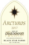 2017 Arcturos Sur Lie Chardonnay white wine label THUMBNAIL