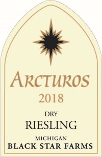 2018 Arctus Dry Riesling white wine label LARGE