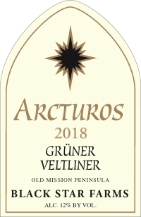 Arcturos Grüner Veltliner white wine label LARGE