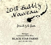 Bubbly Nouveau sparkling wine label