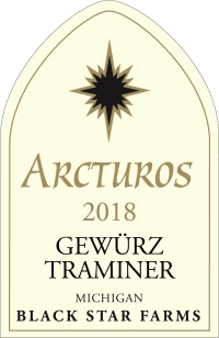 2018 Arcturos Gewurztraminer white wine label LARGE