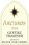 2018 Arcturos Gewurztraminer white wine label THUMBNAIL