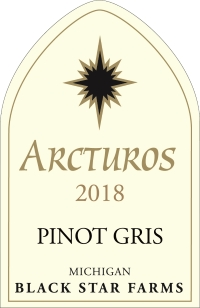 2017 Arcturos Pinot Gris white wine label LARGE