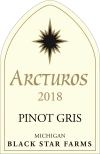 2017 Arcturos Pinot Gris white wine label THUMBNAIL