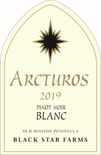 Arcturos Pinot Noir Blanc white wine label LARGE