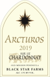 2019 Arcturos Sur Lie Chardonnay white wine label THUMBNAIL