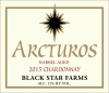 2015 Arcturos Barrel Aged Chardonay white wine label