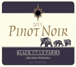 Pinot Noir red wine label