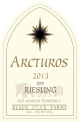 2013 Arctus Dry Riesling white wine label