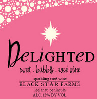 Delighted sparkling wine label