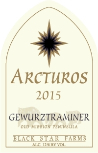 2015 Arcturos Gewurztraminer white wine label