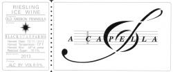 A Capella Ice wine label THUMBNAIL