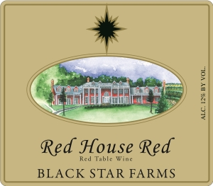 Red House Red red wine label LARGE