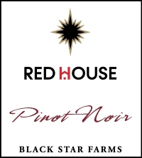 Pinot Noir red wine label LARGE