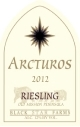 2012 Arcturos Riesling white wine label