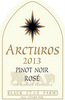 Arcturos Pinot Noir rose wine label