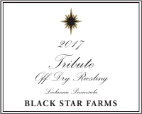 2017 Tribute Off-Dry Riesling white wine label LARGE