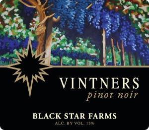 Vinters Select Pinot Noir red wine label LARGE