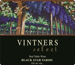 Vintners Select red wine label LARGE