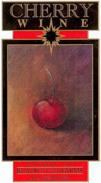 Cherry Wine fruit wine label LARGE