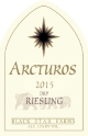 2015 Arctus Dry Riesling white wine label