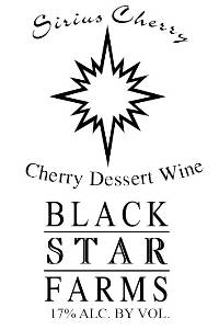 Sirius Cherry dessert wine label LARGE