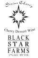 Sirius Cherry dessert wine label