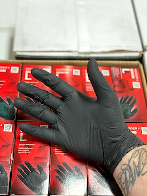Black Nitrile Gloves MAIN
