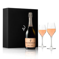 NV Billecart Salmon Brut Rose 375 ml  Champagne Gift Set_LARGE