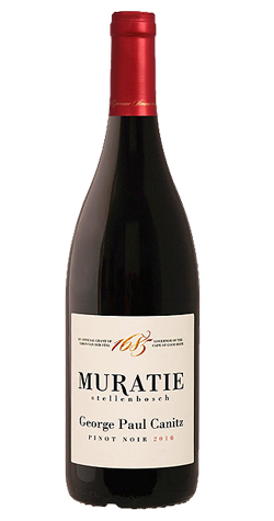 Muratie - 'George Paul Canitz' Pinot Noir, Stellenbosch - 2016 (750ml) :: Cape Ardor - South African Wine Specialists MAIN
