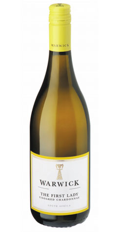 Warwick - 'The First Lady' Unoaked Chardonnay, Western Cape 2018 :: South African Wine Specialists MAIN