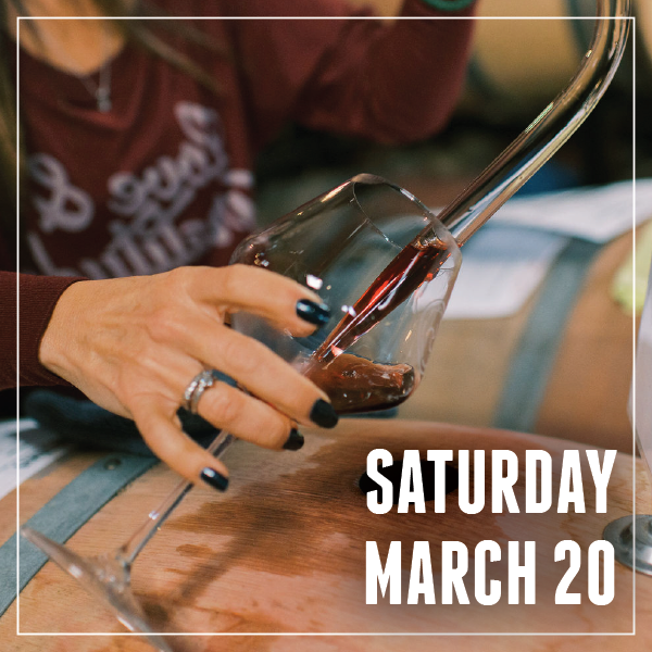 Barrel Tasting Timeslot - Saturday March 20 LARGE