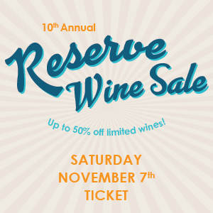 Reserve Sale Ticket - Saturday November 7 THUMBNAIL
