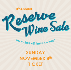 Reserve Sale Ticket - Sunday November 8 LARGE