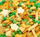 Rice Crackers  with Peas Mix