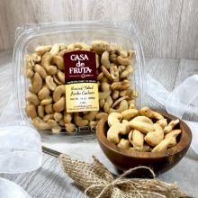 Roasted & Salted Jumbo Cashews Tub 14 oz THUMBNAIL